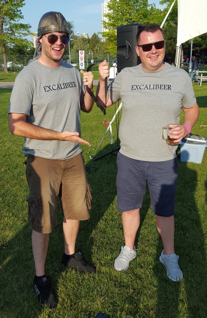 The Excalibeer Baron and Lord Excalibeer pose victorious.